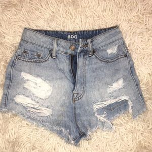 BDG Distressed Jean Shorts